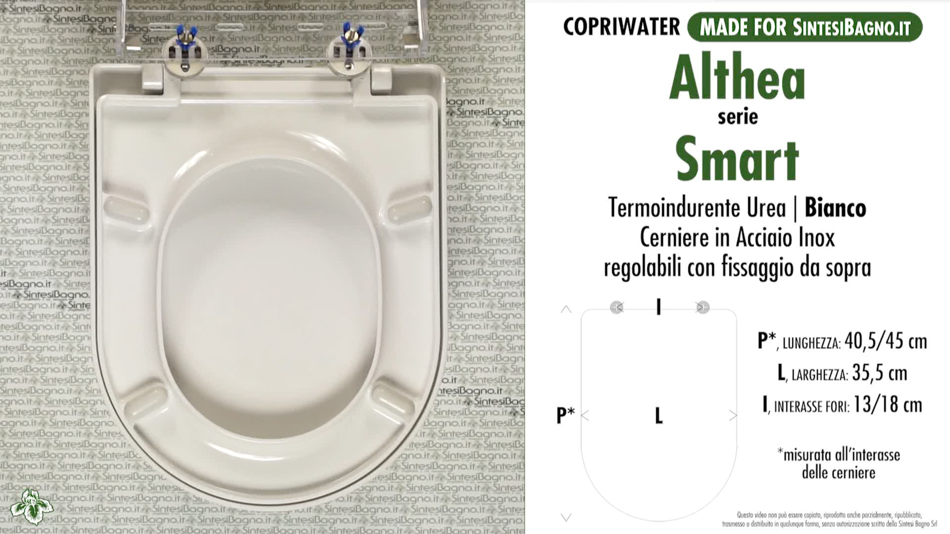 SCHEDA TECNICA MISURE copriwater ALTHEA SMART