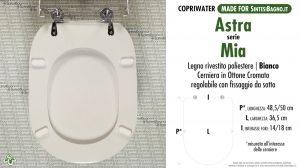 SCHEDA TECNICA MISURE copriwater ASTRA MIA