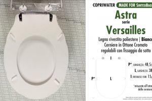 SCHEDA TECNICA MISURE copriwater ASTRA VERSAILLES