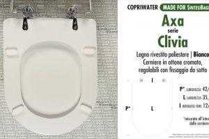 SCHEDA TECNICA MISURE copriwater AXA CLIVIA
