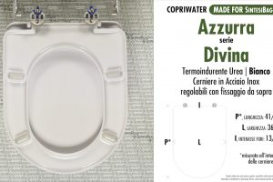 SCHEDA TECNICA MISURE copriwater AZZURRA DIVINA