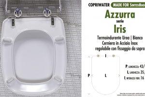 SCHEDA TECNICA MISURE copriwater AZZURRA IRIS