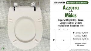 SCHEDA TECNICA MISURE copriwater AZZURRA MIDAS