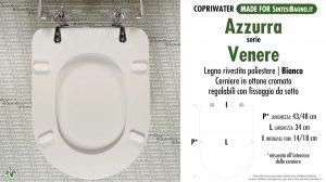 SCHEDA TECNICA MISURE copriwater AZZURRA VENERE