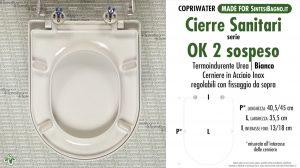 SCHEDA TECNICA MISURE copriwater CIERRE OK