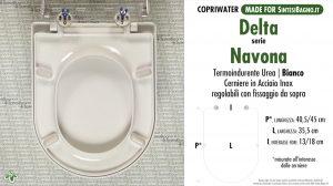 SCHEDA TECNICA MISURE copriwater DELTA NAVONA