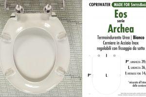 SCHEDA TECNICA MISURE copriwater EOS ARCHEA