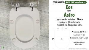 SCHEDA TECNICA MISURE copriwater EOS ASTRO