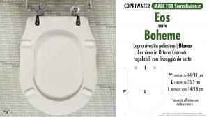 SCHEDA TECNICA MISURE copriwater EOS BOHEME