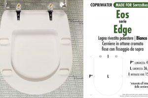 SCHEDA TECNICA MISURE copriwater EOS EDGE