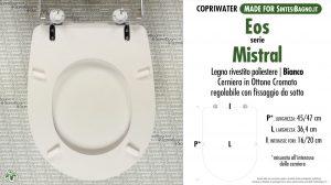 SCHEDA TECNICA MISURE copriwater EOS MISTRAL