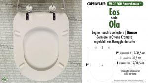 SCHEDA TECNICA MISURE copriwater EOS OLA