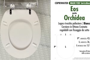 SCHEDA TECNICA MISURE copriwater EOS ORCHIDEA