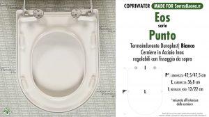 SCHEDA TECNICA MISURE copriwater EOS PUNTO