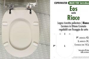 SCHEDA TECNICA MISURE copriwater EOS RIACE