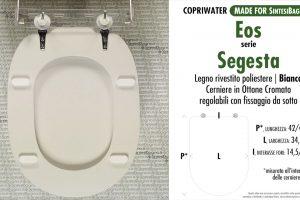 SCHEDA TECNICA MISURE copriwater EOS SEGESTA