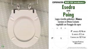 SCHEDA TECNICA MISURE copriwater ESEDRA BULL