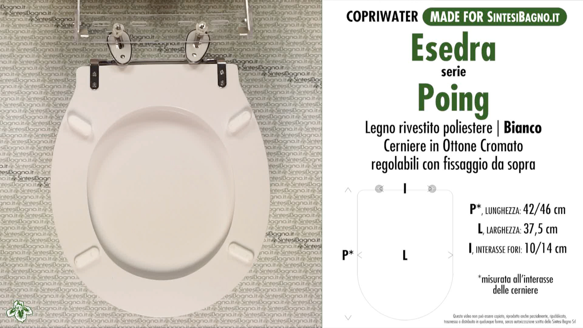 Schede tecniche misure copriwater esedra serie poing for Esedra water
