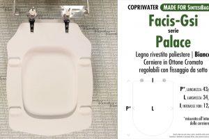 SCHEDA TECNICA MISURE copriwater FACIS PALACE