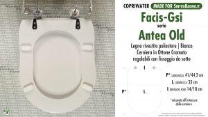 SCHEDA TECNICA MISURE copriwater FACIS/GSI ANTEA