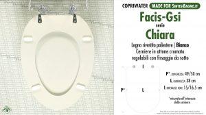 SCHEDA TECNICA MISURE copriwater FACIS/GSI CHIARA