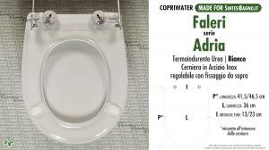 SCHEDA TECNICA MISURE copriwater FALERI AIDA