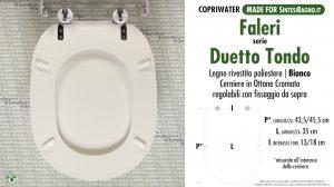SCHEDA TECNICA MISURE copriwater FALERI DUETTO TONDO
