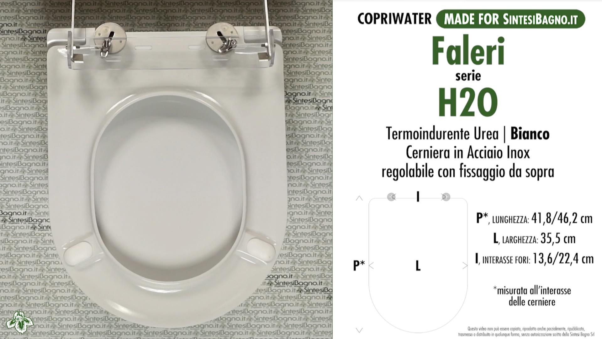 SCHEDA TECNICA MISURE copriwater FALERI H2O