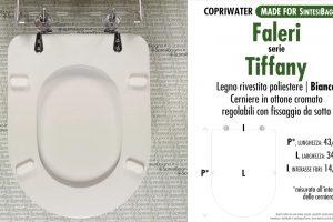 SCHEDA TECNICA MISURE copriwater FACIS/GSI TIFFANY