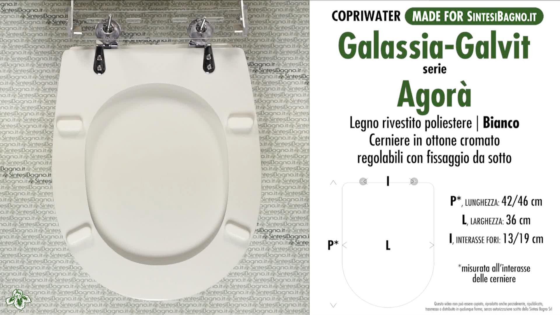 SCHEDA TECNICA MISURE copriwater GALASSIA-GALVIT AGORA'