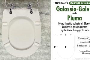 SCHEDA TECNICA MISURE copriwater GALASSIA-GALVIT PIUMA