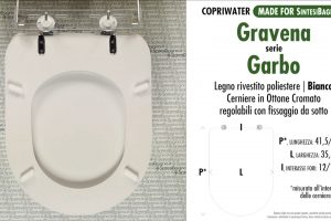 SCHEDA TECNICA MISURE copriwater GRAVENA GARBO