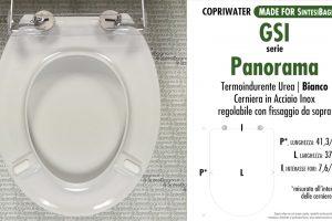 SCHEDA TECNICA MISURE copriwater FACIS/GSI PANORAMA