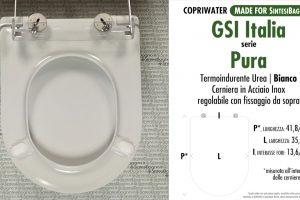 SCHEDA TECNICA MISURE copriwater FACIS/GSI PURA