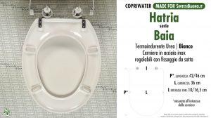 SCHEDA TECNICA MISURE copriwater HATRIA BAIA