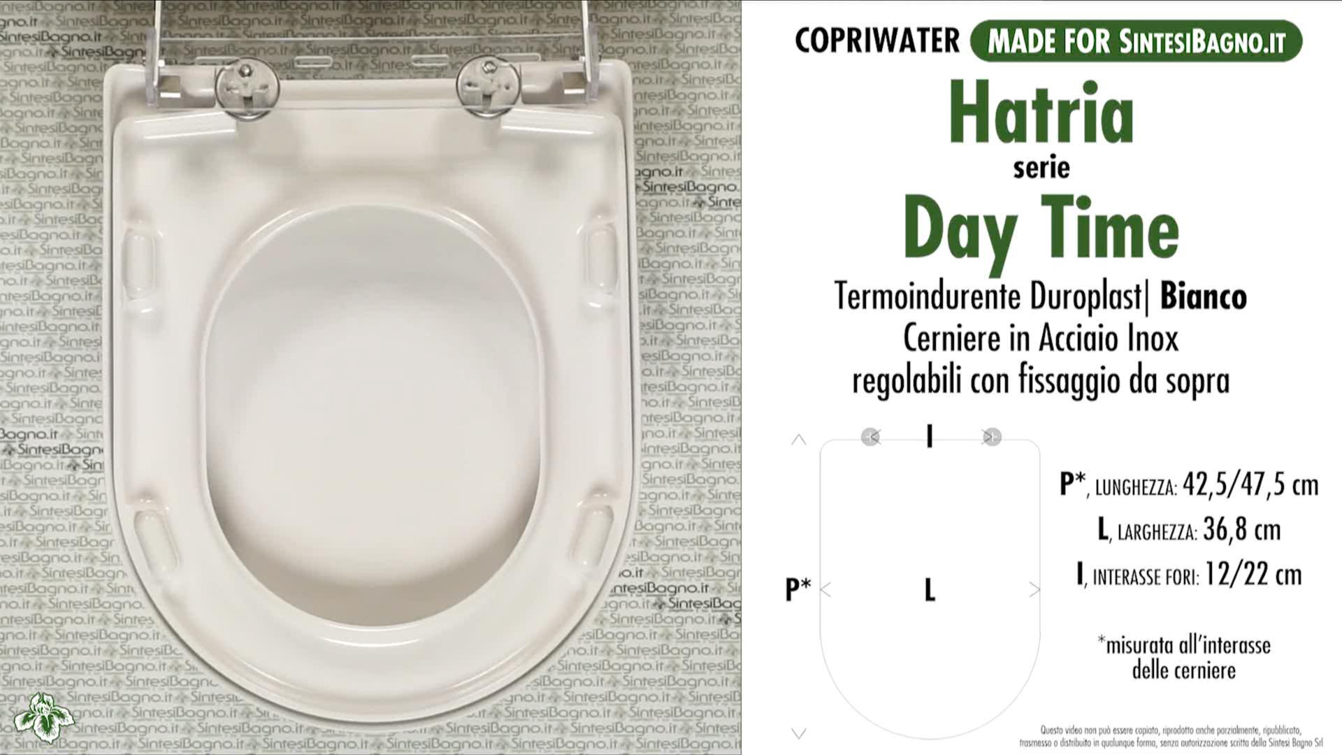 SCHEDA TECNICA MISURE copriwater HATRIA DAY TIME