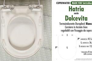 SCHEDA TECNICA MISURE copriwater HATRIA DOLCEVITA