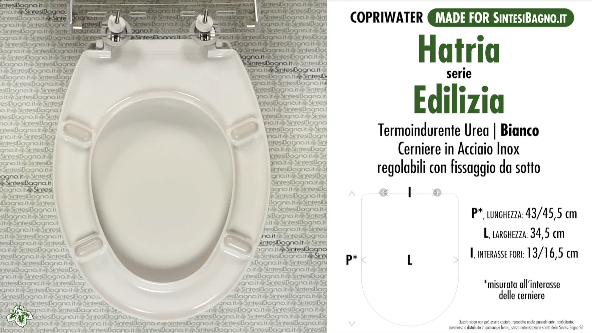 SCHEDA TECNICA MISURE copriwater HATRIA EDILIZIA