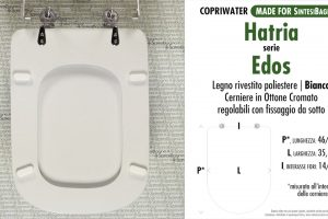 SCHEDA TECNICA MISURE copriwater HATRIA EDOS