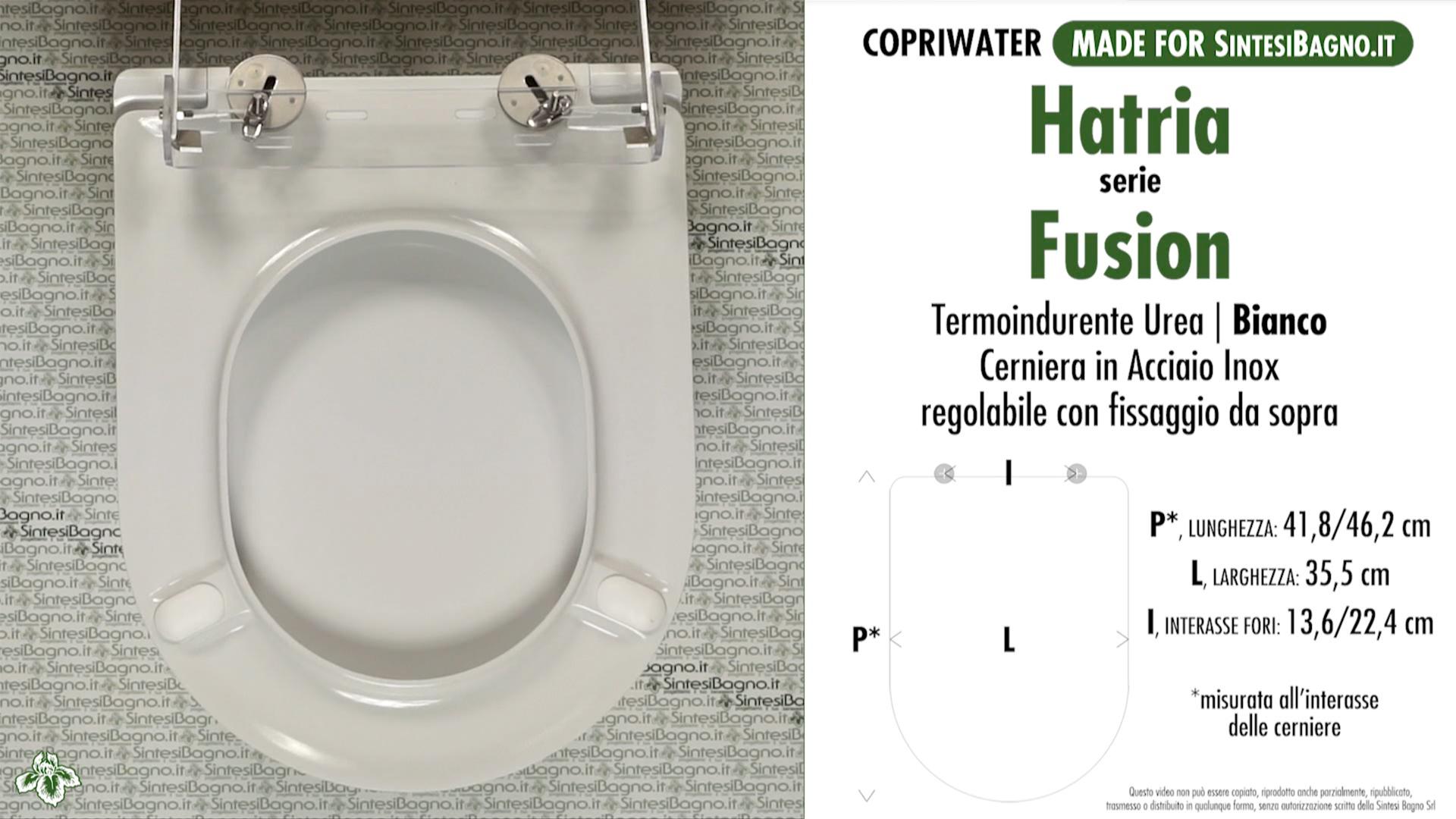 SCHEDA TECNICA MISURE copriwater HATRIA FUSION