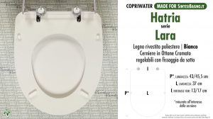 SCHEDA TECNICA MISURE copriwater HATRIA LARA