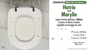 SCHEDA TECNICA MISURE copriwater HATRIA MARYLIN
