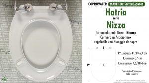 SCHEDA TECNICA MISURE copriwater HATRIA NIZZA