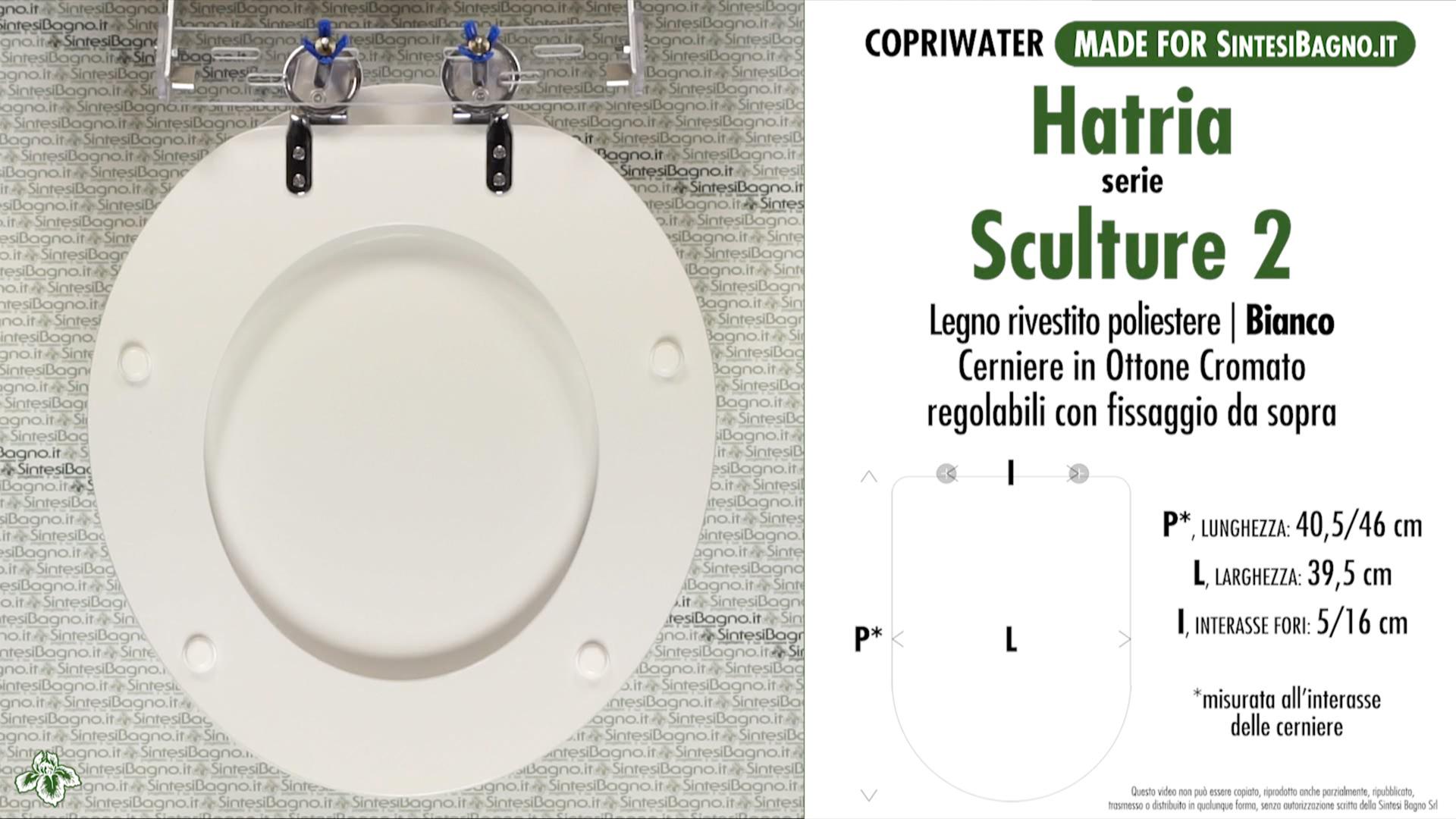 SCHEDA TECNICA MISURE copriwater HATRIA SCULTURE 2