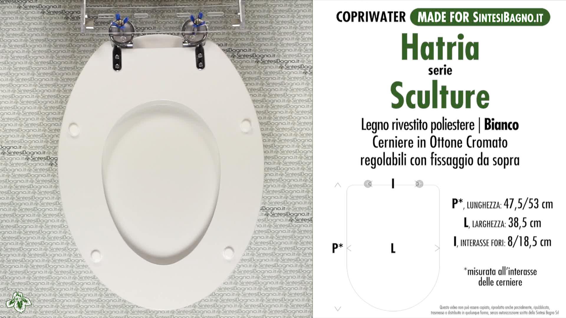 SCHEDA TECNICA MISURE copriwater HATRIA SCULTURE