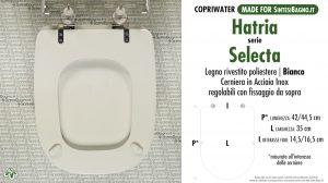 SCHEDA TECNICA MISURE copriwater HATRIA SELECTA