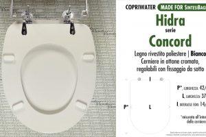 SCHEDA TECNICA MISURE copriwater HIDRA CONCORD