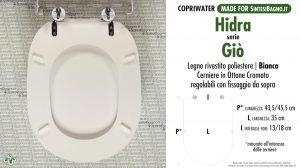 SCHEDA TECNICA MISURE copriwater HIDRA GIO'