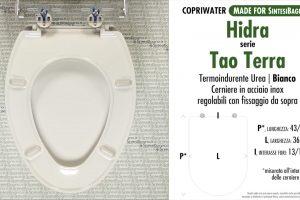 SCHEDA TECNICA MISURE copriwater HIDRA TAO