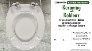 SCHEDA TECNICA MISURE copriwater KERAMAG KOBLENZ
